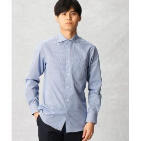 COMME CA MEN/コムサ・メン 【形態安定】ギンガムチェック ドレスシャツ ブルー S