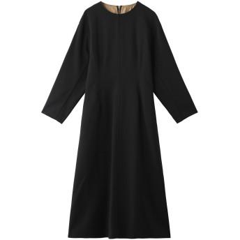 LE CIEL BLEU ルシェルブルー バックジップストラクチャードスリーブドレス ブラック