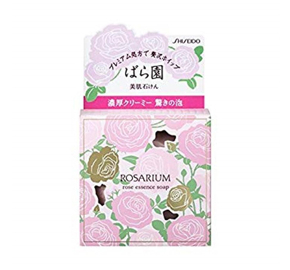潼漾小舖shiseido資生堂 玫瑰仙子 潤膚乳霜皂