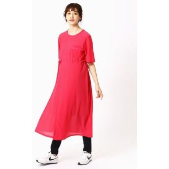 COMME CA BLANC D'OEUF/コムサブロンドオフ (マタニティ)Tシャツドレス ピンク M〜L