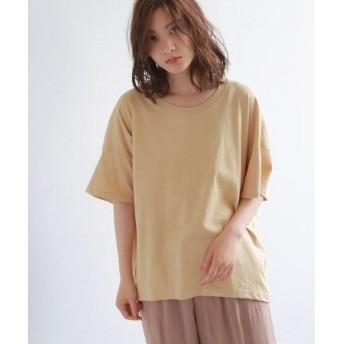 OZOC/オゾック [洗える]コットンビッグシルエットTシャツ ベージュ(052) 40(L)