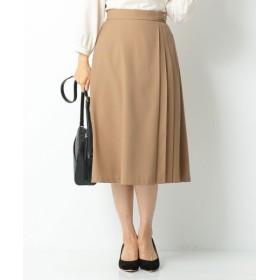 S size ONWARD(小さいサイズ)/エスサイズオンワード 【洗える】サイドプリーツ スカート キャメル 0