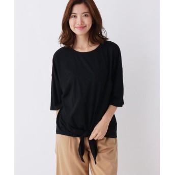 SHOO・LA・RUE/シューラルー スーピマ裾結びプルオーバー ブラック(019) 02(M)