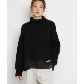 AG by aquagirl/エージー バイ アクアガール タートルネック裾プリーツニット ブラック(019) 38(M)