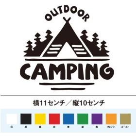 アウトドア テント キャンプ ステッカー