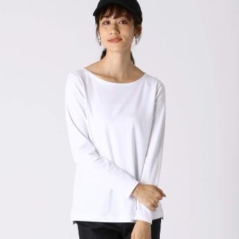 (コムサ イズム) COMME CA ISM コットンスムース ベーシック長袖Tシャツ 12-60CN01-109 S ホワイト