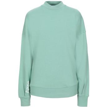 《セール開催中》P_JEAN レディース スウェットシャツ ライトグリーン S コットン 100%