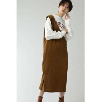 ROSE BUD/ローズ バッド コーデュロイジャンパースカート ブラウン -