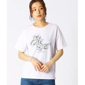 COMME CA ISM/コムサイズム グラフィカル Tシャツ ホワイト L