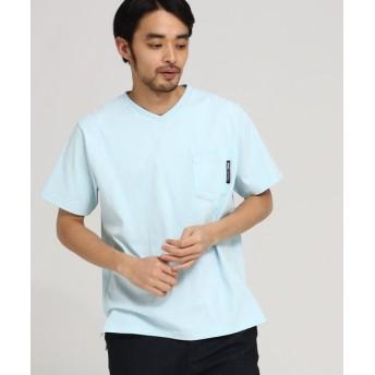 BASE STATION/ベースステーション Tシャツ メンズ Vネック WEB限定 サックス(090) 03(L)