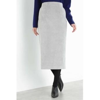 BOSCH/ボッシュ ◆細コールロングタイトスカート グレー 36