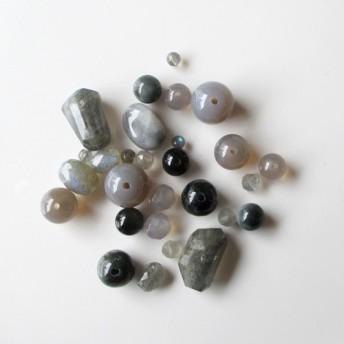 天然石 カラーアソートパック グレー系セットC (ai-0175)