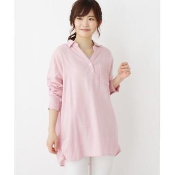 SHOO・LA・RUE/シューラルー 【2点セット】裾タックスキッパーシャツ+タンクセット ピンク(072) 03(L)