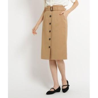 AG by aquagirl/エージー バイ アクアガール 【Lサイズあり】ベルト付フロントボタンスカート ベージュ(052) 40(L)