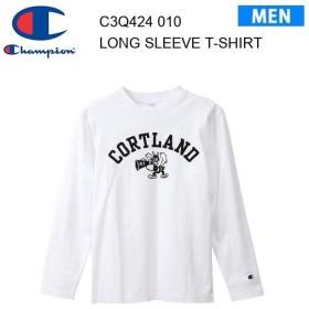 19fw チャンピオン Champion ロングスリーブTシャツ 19FW 【秋冬新作】キャンパス  C3-Q424 カラー ホワイト メンズ  正規品