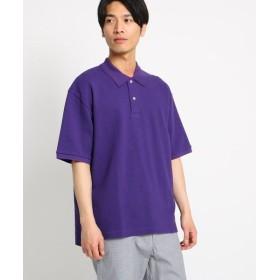 THE SHOP TK/ザ ショップ ティーケー ビッグシルエットポロシャツ パープル(083) 03(L)