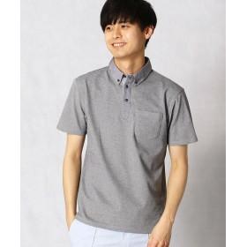 COMME CA MEN/コムサ・メン セオアルファ 鹿の子ポロシャツ グレー M