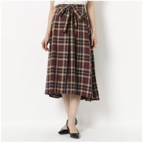 Rose Tiara/ローズティアラ 【 WEB限定有 】 ビックチェックフィッシュテールスカート バイオレット 38