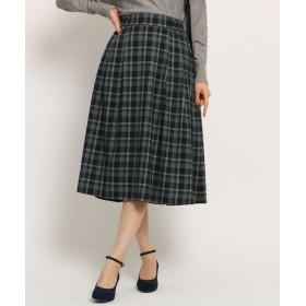Couture Brooch/クチュールブローチ 【WEB限定プライス/手洗い可】トラッドチェックリバーシブルスカート ネイビー(293) 38(M)
