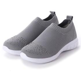 ベルーナ BELLUNA 4Eくにゃっとフレキシブルソールニット靴 (グレー)