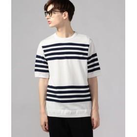 TOMORROWLAND/トゥモローランド 【WEB先行予約】パネルボーダー ニットTシャツ tricot-T 16 グレー系 M