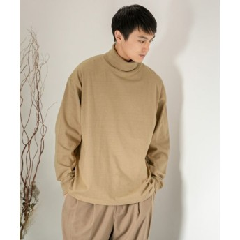 SENSE OF PLACE by URBAN RESEARCH/センスオブプレイス バイ アーバンリサーチ Good wear 別注ハイネックTシャツ BEIGE M
