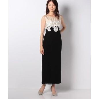 La Festa chic/ラフェスタシック コード刺繍ロングドレス ブラック 11