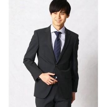 COMME CA MEN/コムサ・メン 小紋ドビーストライプ セットアップジャケット ネイビー S