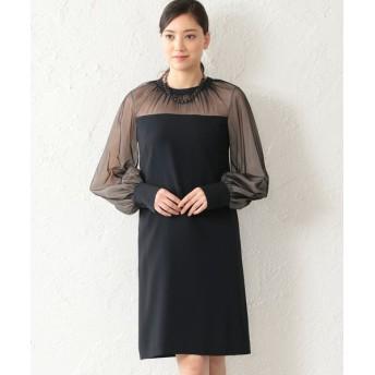 EPOCA/エポカ バックサテンジョーゼット ドレス ネイビー2 40