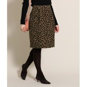 Bon mercerie/ボン メルスリー アニマルジャカードスカート キャメル(041) 36(S)