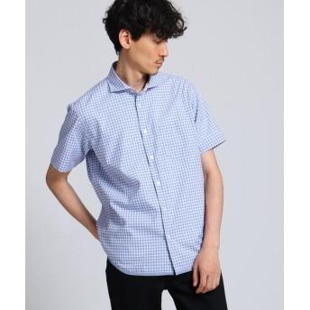 TAKEO KIKUCHI/タケオキクチ ハケメギンガムチェックシャツ ブルー(292) 02(M)