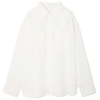 PINKY & DIANNE/ピンキーアンドダイアン ナチュラルタッチソフトシャツ ホワイト 38