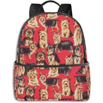 リュック ヨークシャー テリア 犬 バックパック ビジネスバッグ PCリュック 防水 大容量 多機能 軽量 遠足 旅行 アウトドア 大学生 中学生 おしゃれ 15.6インチ