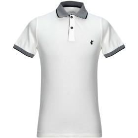 《セール開催中》SAVE THE DUCK メンズ ポロシャツ ホワイト S コットン 97% / ポリウレタン 3%