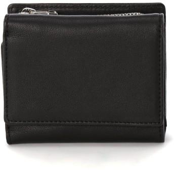 Neutral Gray Mine trifold wallet 財布,Black
