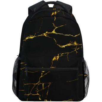 MISCERYリュックサック,大理石模様のテクスチャ背景ゴールドコンセプト,大容量の学生の子供のバックパックの若者の男性と女性は、ファッション性格カスタムパターン旅行バッグ耐久性のあるスポーツアウトドアを