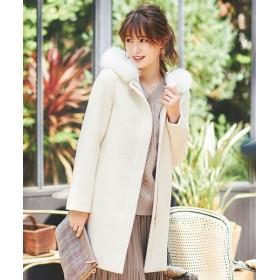 any SiS/エニィスィス 【3WAY】ロイヤルアンゴラ ミドル コート オフホワイト 1