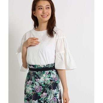 SunaUna/スーナウーナ 【洗える】スヴィン綿ティアードスリーブシャツ オフホワイト(003) 38(M)
