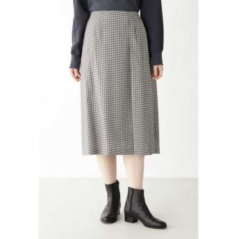 HUMAN WOMAN/ヒューマンウーマン ◆コットンレクセルビエラプリントスカート グレー系3 S