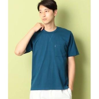 COMME CA COMMUNE/コムサコミューン スヴィン コットン Tシャツ ブルー M