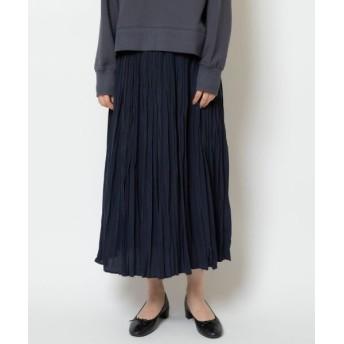 NIMES/ニーム デシンプリーツスカート ネイビー フリー