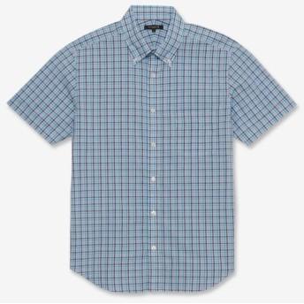 MACKINTOSH LONDON(MENS)/マッキントッシュ ロンドン メンズ BEZチェック半袖シャツ ブルー5 LL