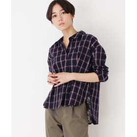 SHOO・LA・RUE/シューラルー バックレースデザインスキッパーシャツ ネイビー(293) 02(M)