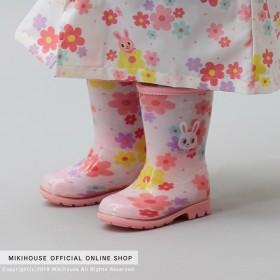 ミキハウス プッチー&うさこ レインブーツ(長靴) ピンク