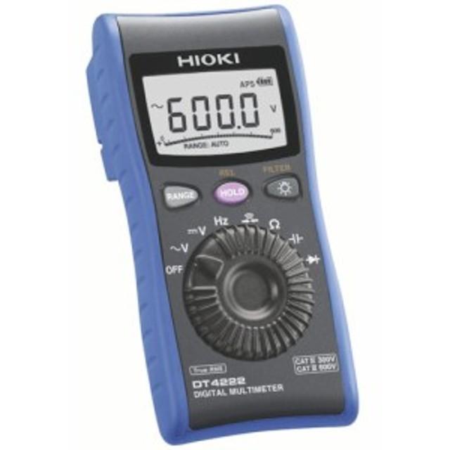 HIOKI デジタルマルチメータ DT4222 (1台) 品番:DT4222