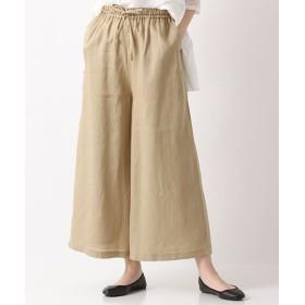 MARcourt/マーコート linen tucked easy PT with belt beige 2
