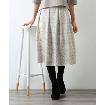 AMACA/アマカ 【COLLECTION LINE】ペーパーウォールプリントスカート オフホワイト2 38