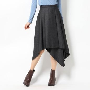ブルー レ コパン Blue Les Copains スカート (ダークグレー)