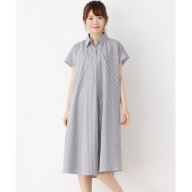 SHOO・LA・RUE/シューラルー テントラインシャツワンピ ブラック(ストライプ)(319) 00(FREE)
