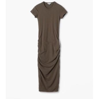 TOMORROWLAND/トゥモローランド ストレッチジャージー クルーネックドレス WJE6035 58 カーキ系 0(S)